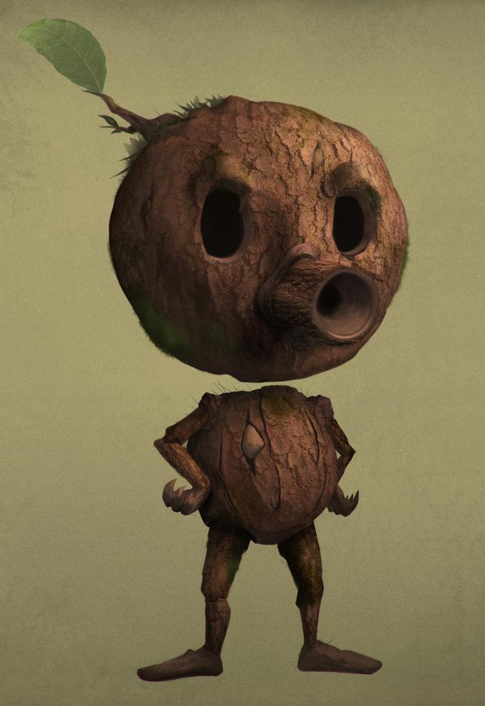 Деревяшка (хильда) Хильда, Мультфильмы, Рисунок, Реализм, Компьютерная графика, Photoshop, 2d, Цифровой рисунок