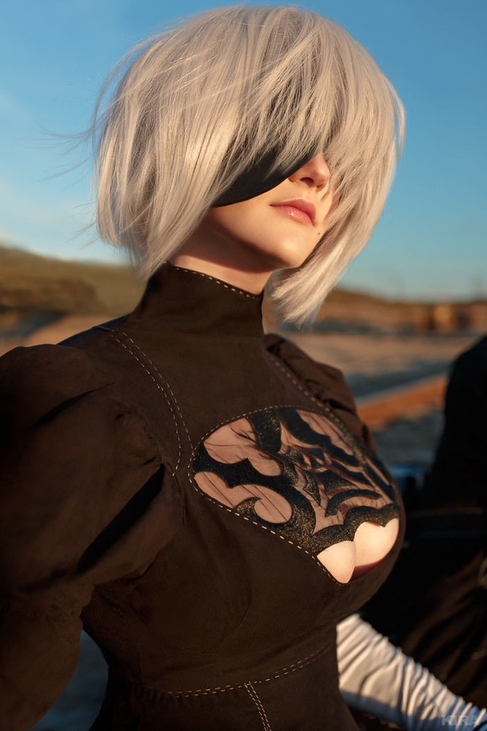 2B and 9S from NieR: Automata NIER Automata, Nierautomata, Yorha No 9 type s, Yorha unit No 2 type B, Игры, Парень и девушка, Сиськи, Косплей, Длиннопост