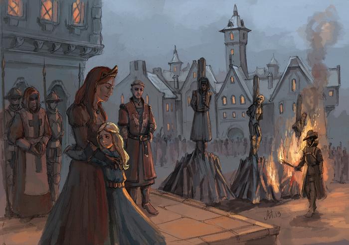 Казнь заговорщиков Ведьмак, The Witcher 3:Wild Hunt, Фан-Арт, Казнь, Радовид, Принцесса Адда