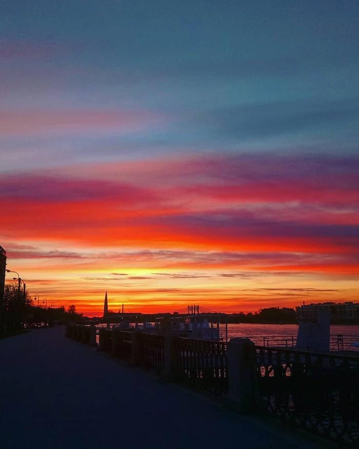 Сегодняшний закат. Закат, Санкт-Петербург