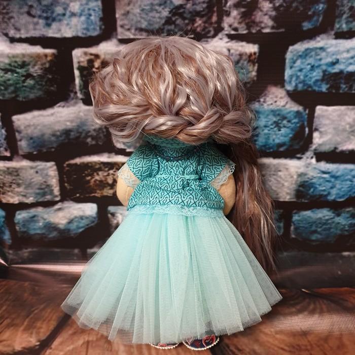Трикотажная куколка бирюза ее можно заплетать и расчесывать. Рукоделие, Своими руками, Рукоделие без процесса, Современное искусство, Текстильная кукла, Кукла, Длиннопост