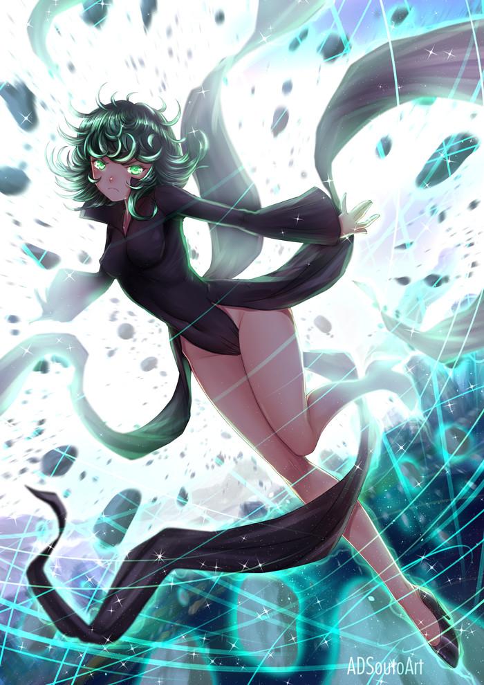 Tatsumaki Onepunchman, Tatsumaki, Anime Art, Adsouto, Аниме, Арт, Купальник, Длиннопост