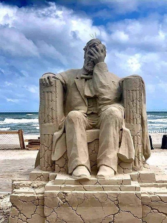 Первое место на Техасском фестивале песчаных скульптур 2019