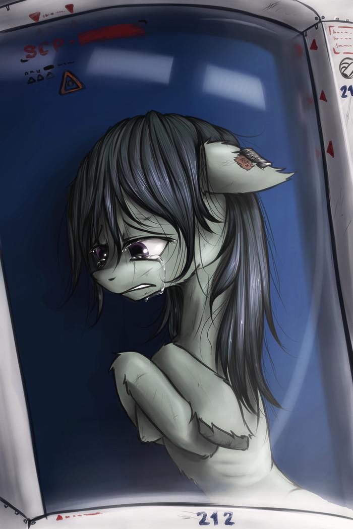 SCPony My Little Pony, Semi-Grimdark, Octavia Melody, SCP, SCP Art, Арт, Madhotaru