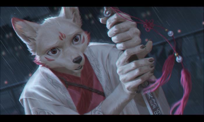 Sword singer Фурри, Furry Art, Furry Canine, Меч, Terry Grimm