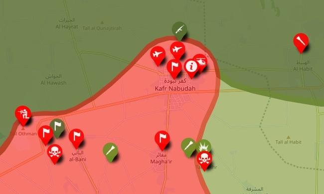 Сирийская армия продолжает своё наступление. Освобожден город Кафр-Набуда Политика, Сирия, Война