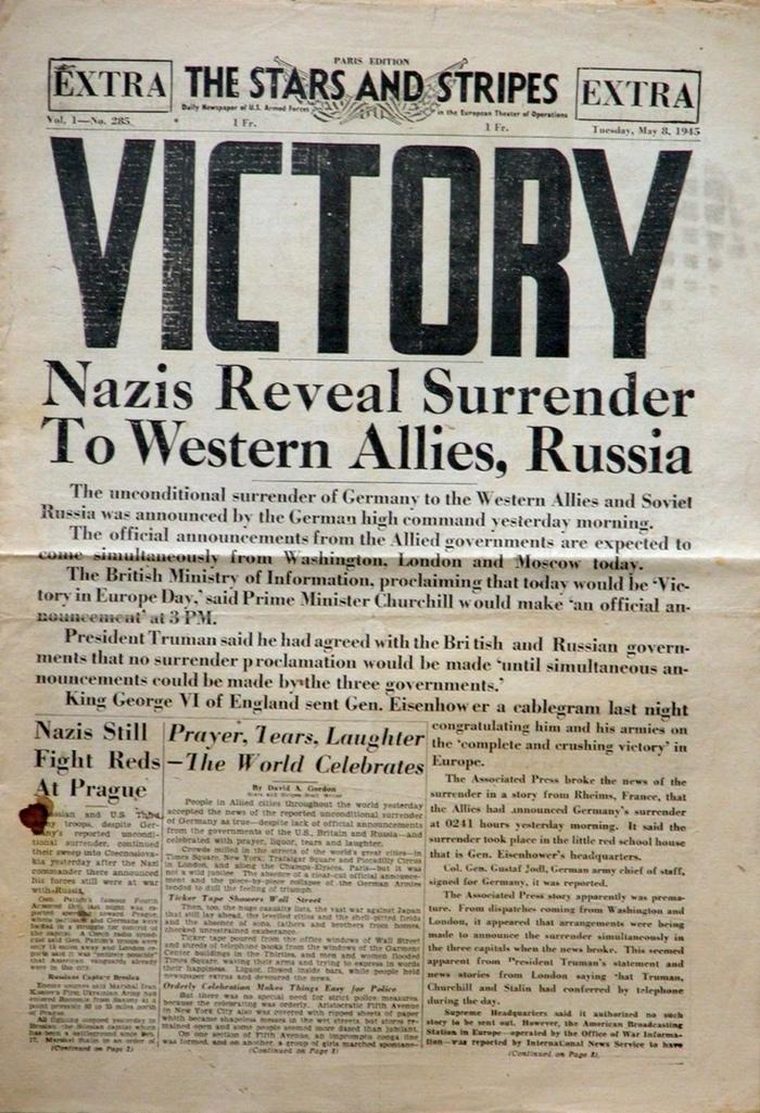 Между прочим, считается что 8 мая это 8 мая, История, Интересно узнать, Вторая мировая война, Длиннопост