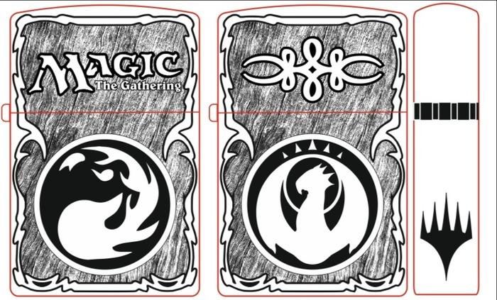 Зажигалочка Zippo, Гравировка, Лазерная гравировка, Magic: The Gathering, Длиннопост