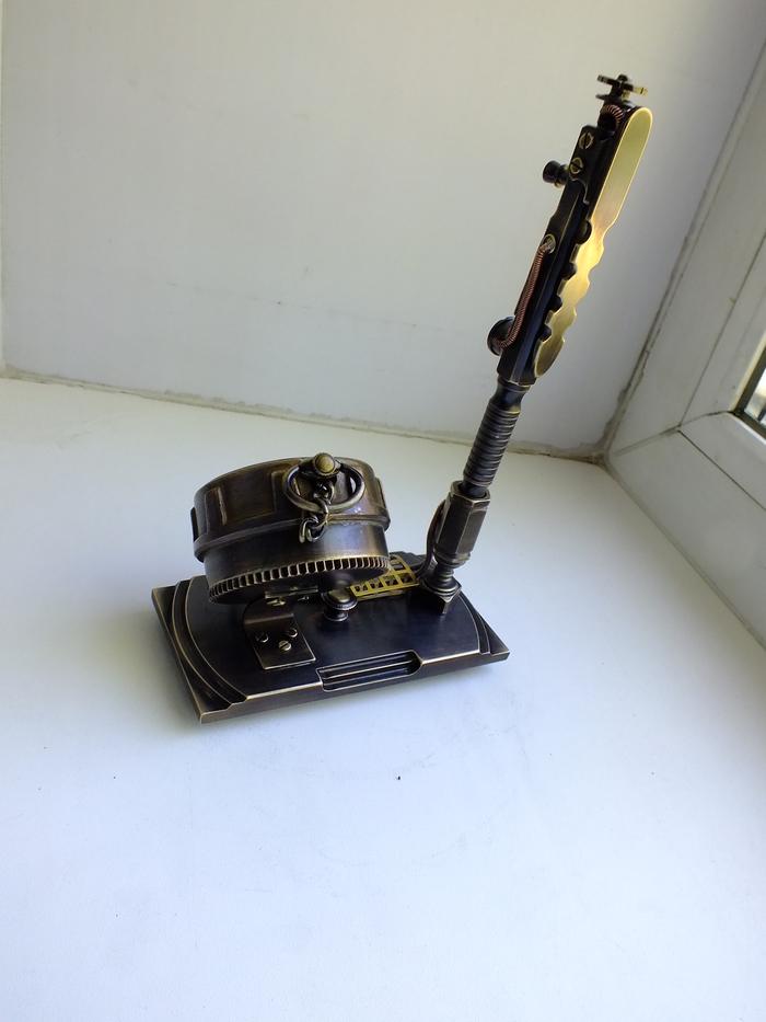 Вдохновение мая, физический результат))) Рукоделие без процесса, Латунь, Ручка, Steampunk Watch, Стимпанк, Часы, Видео, Длиннопост