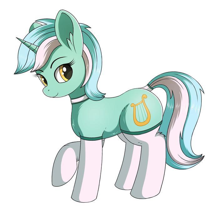 Мятная понька с носочками. My Little Pony, Ponyart, Lyra Heartstrings, MLP Носочки, Negasun
