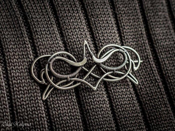 Wire wrap без вставок. Пара новых брошей и кулон Wire wrap, Украшения ручной работы, Брошь, Кулон, Рукоделие без процесса, Длиннопост