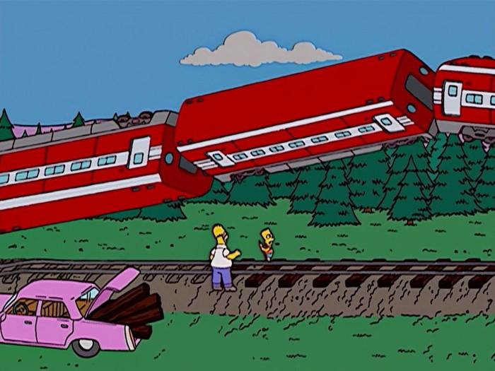Симпсоны на каждый день [10_Мая] Симпсоны, Каждый день, Поезд, Гифка, Длиннопост