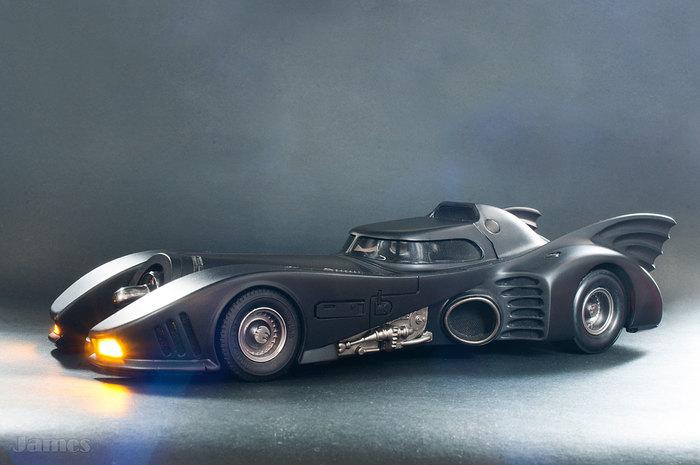 Tim Burton's Batmobile (1989) Стендовый моделизм, Бэтмобиль, Бэтмен Тима Бертона, Модель с подсветкой, Модель авто, Набор amt, Длиннопост