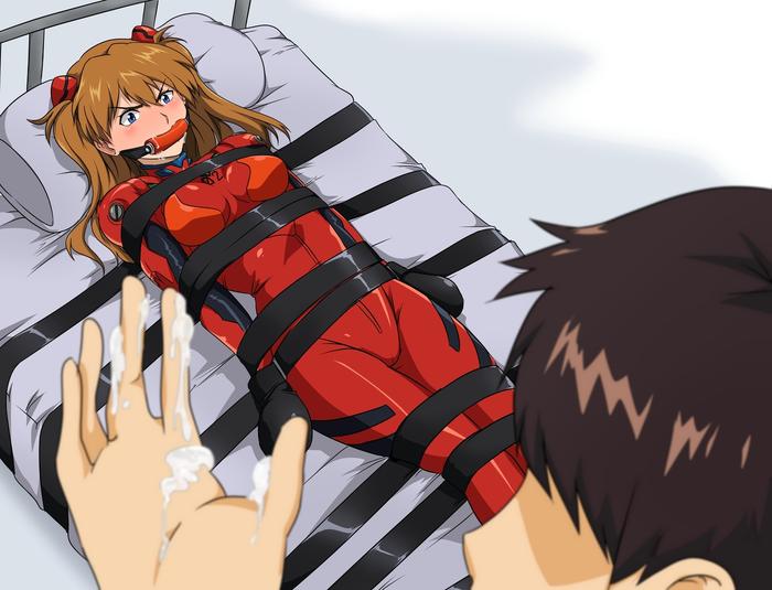 Правильно зафиксированная девушка в предварительных ласках не нуждается... Asuka Langley, Evangelion, Аниме, Anime Art, Shinji Ikari