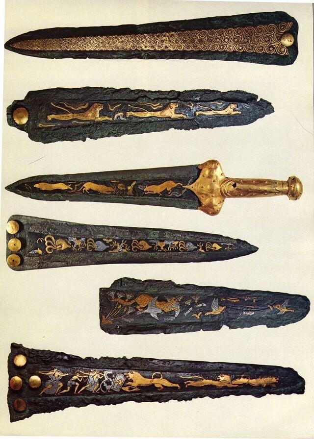 Микены. Холодное оружие, Нож, Микены, Фотография, Бронзовый век, Искусство, История