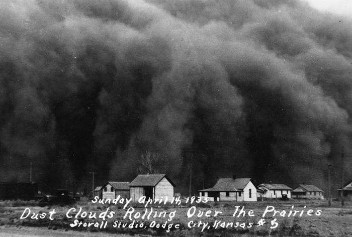 Экологическая катастрофа в США в 1930-х годах. География, Метеорология, США, Экология, История, Elementy ru, Видео, Длиннопост
