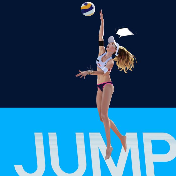 Спорт Арт, Рисунок, Девушки, Спорт, Волейбол, Прыжки с шестом, Wonbin Lee