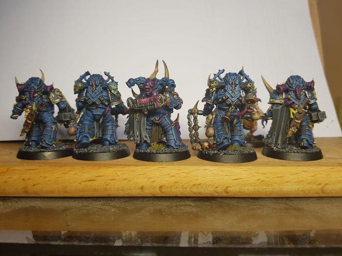Первый киллтим готов. Wh Miniatures, Warhammer 40k, Plague marine, Нургл, Killteam, Длиннопост