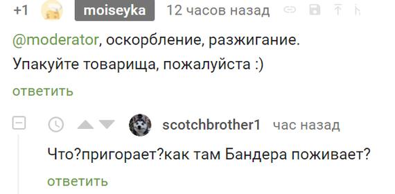 Русские там все долбанутые! [есть ответ] Модератор, Пикабу, Оскорбление, Межнациональная рознь