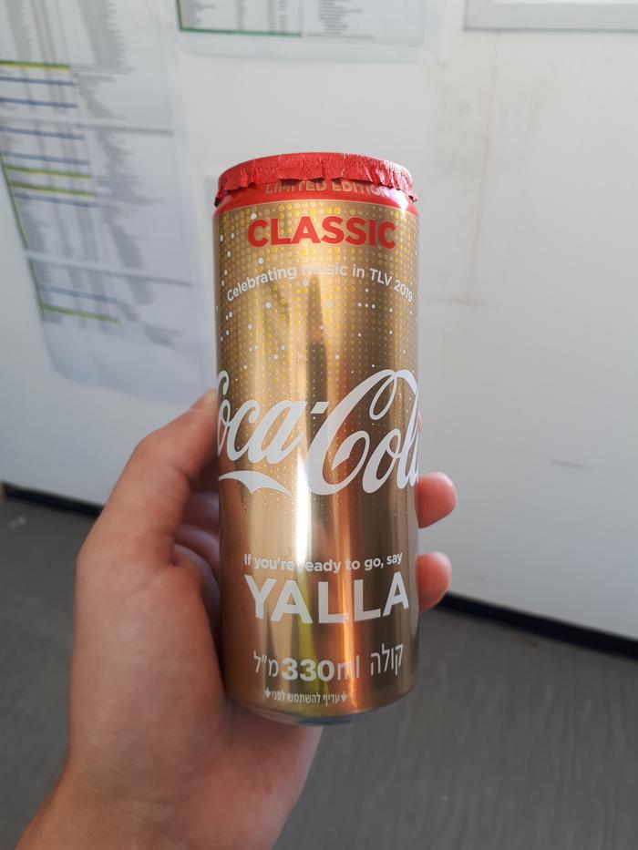 Лимитированная Coca-Cola Coca-Cola, Израиль, Евровидение