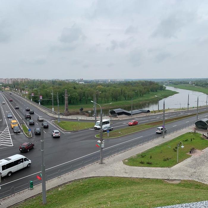 Вид на Днепр с площади Славы, Могилёв.