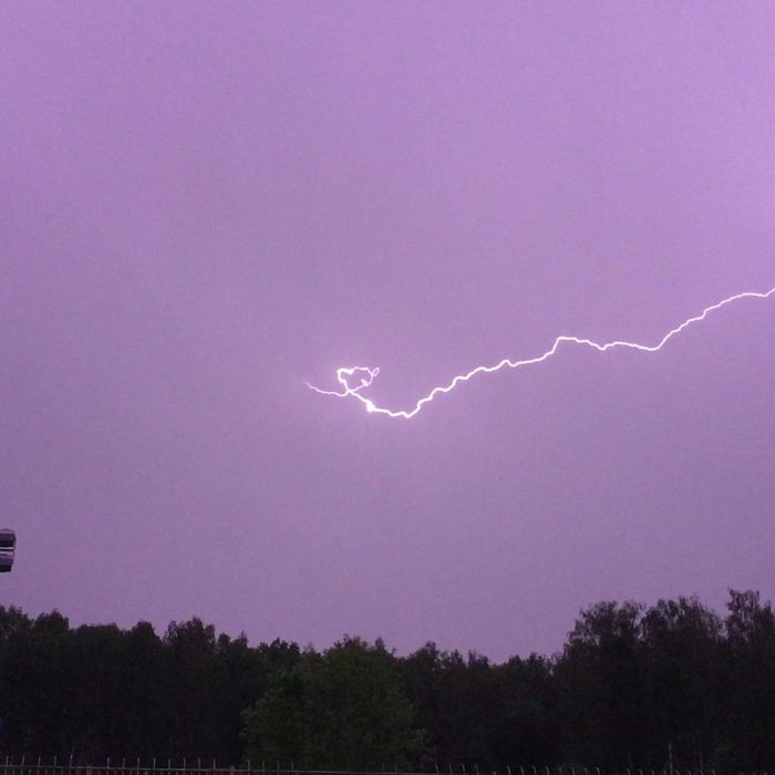 Удары молний в Касимове, Рязанская область, вчера вечером. Молния, Фотография, Природные явления, Касимов, Длиннопост