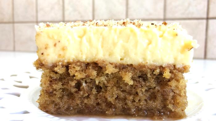 Ореховый пирог с заварным кремом.Греческая кухня Торт, Десерт, Вкусно, Видео, Рецепт, Видео рецепт, Еда, Выпечка, Длиннопост, Кулинария