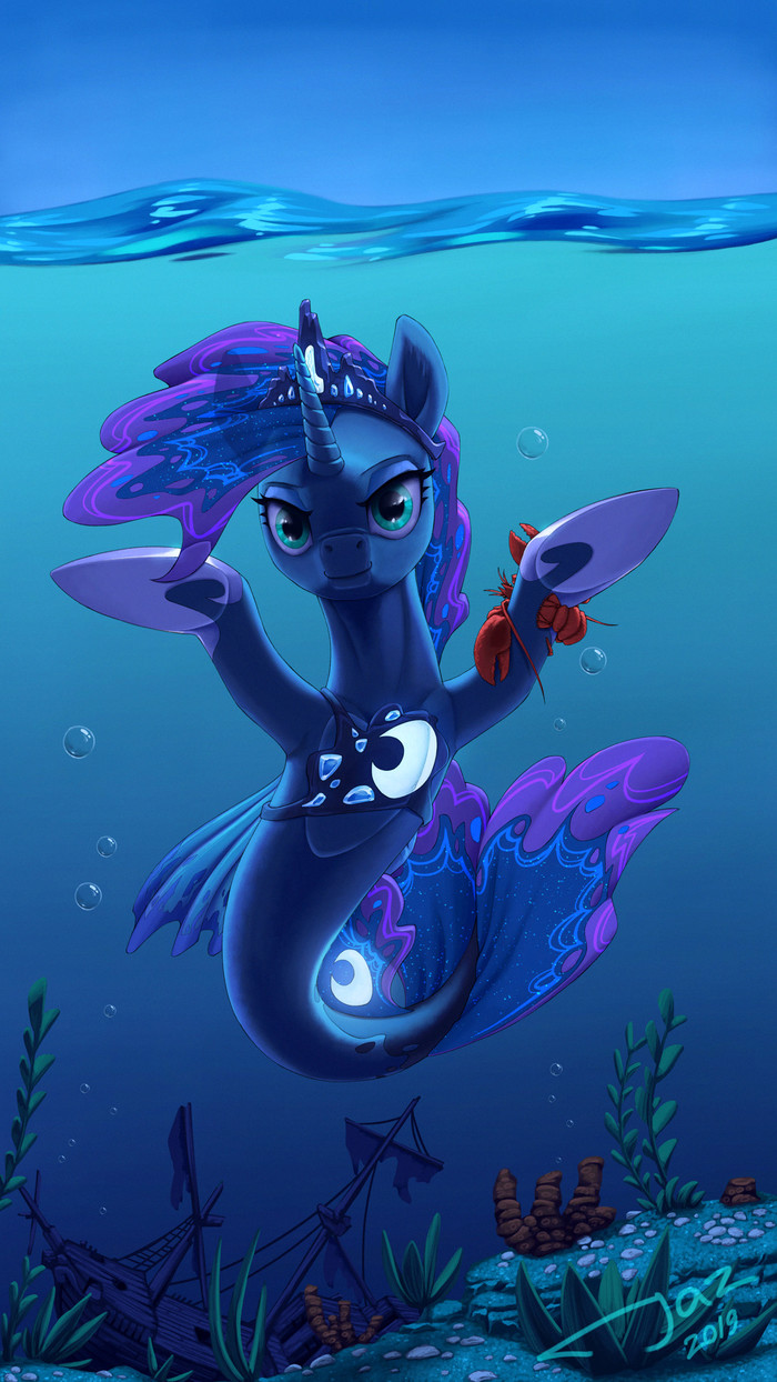 Подводная Луна My Little Pony, Seapony, Princess Luna, 1jaz