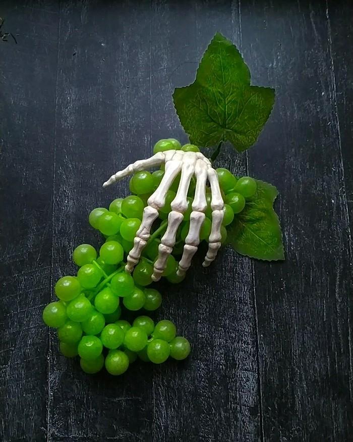 Кружка с кистью Полимерная глина, Рукоделие без процесса, Скелет, Кружка с декором, Длиннопост