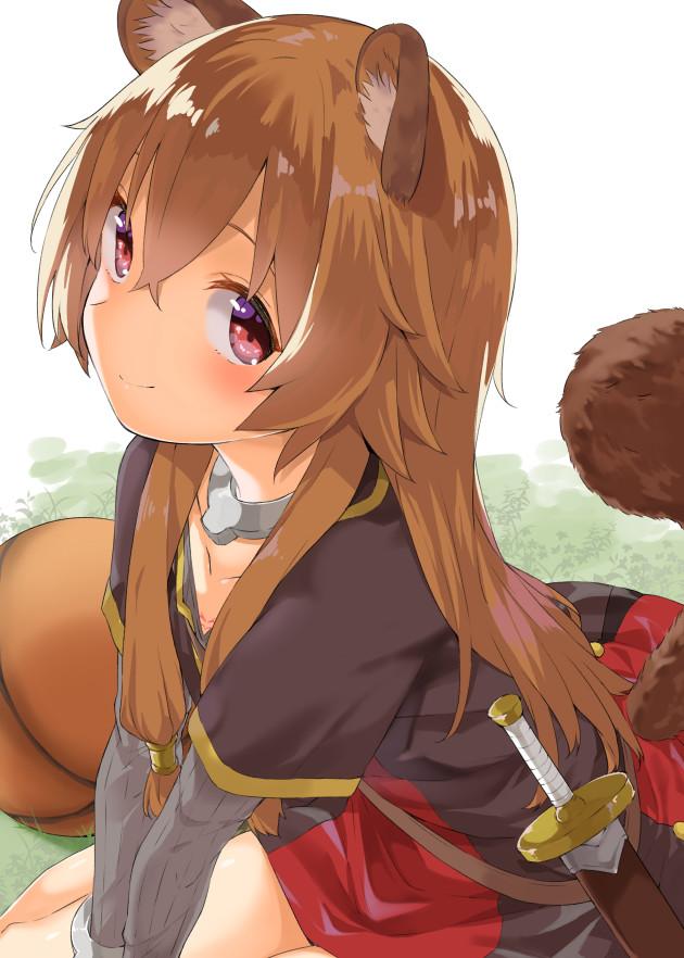 Милашка! Аниме, Anime Art, Tate No yuusha No nariagari, Raphtalia, Арт, Енот, Loli, Animal Ears