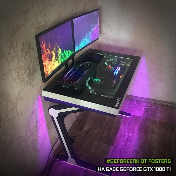 Засунул компьютер в стол — вторая попытка Компьютер, Моддинг, ПК, Сборка компьютера, Длиннопост