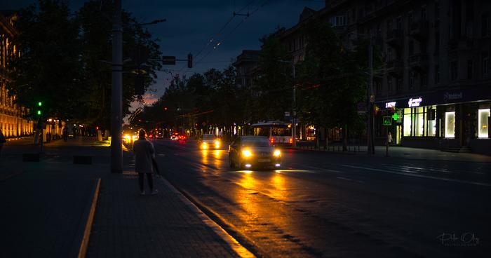 Ночной Кишинев Фотография, Кишинев, Ночь, Удица, Молдова