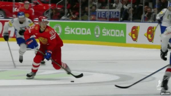 Красивая шайба сборной России в меньшинстве