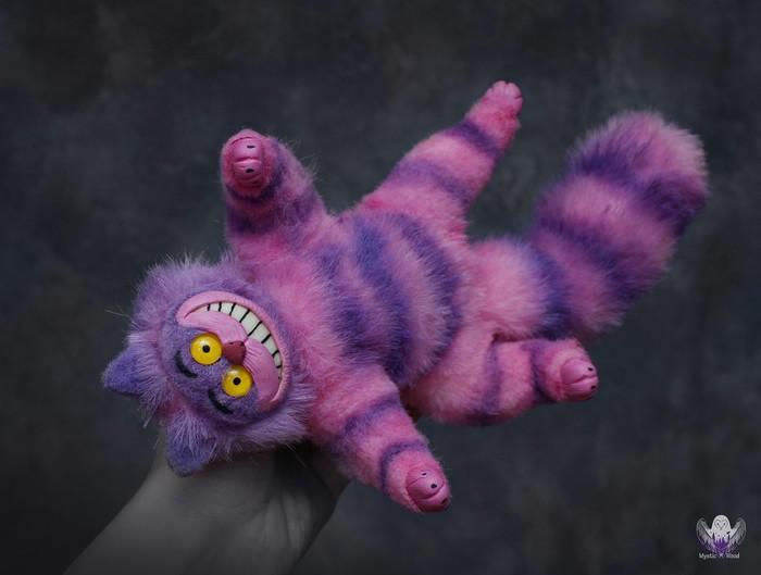 Безумие - это нормально Кот, Чеширский кот, Полимерная глина, Рукоделие без процесса, Ручная работа, Длиннопост