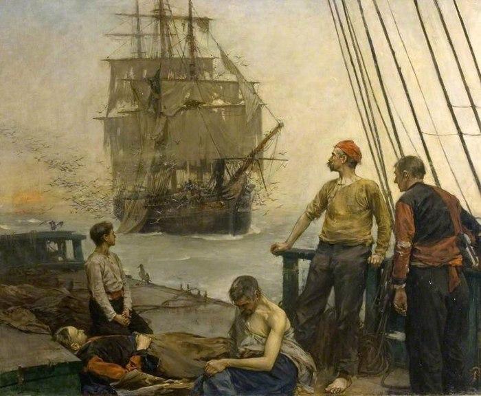 «Корабли чумы» Пираты, История, Летучий голландец