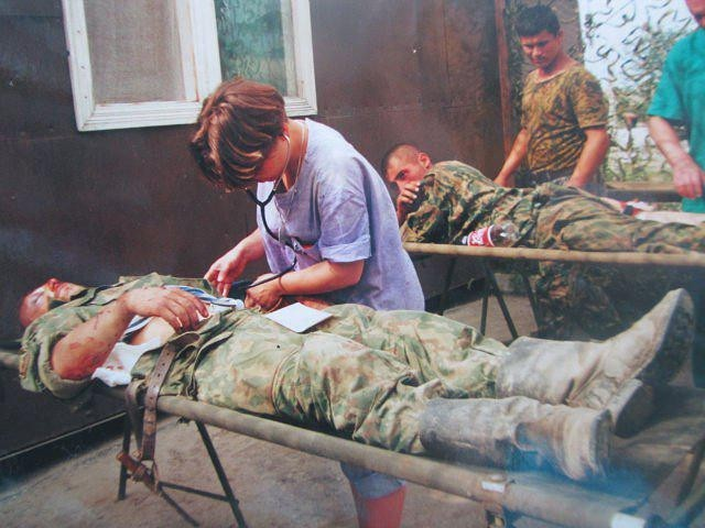Российский полевой госпиталь в Ханкале, Чечня, Вторая Чеченская война, 2000 год