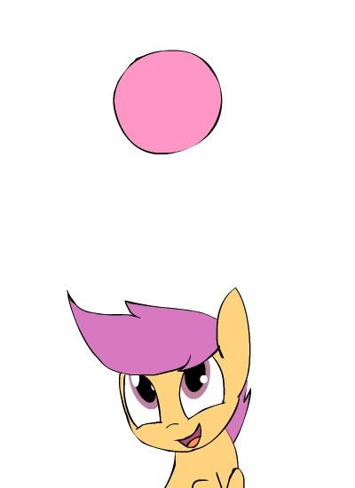 Мячик My Little Pony, Kanashiipanda, Scootaloo, Мяч, Гифка