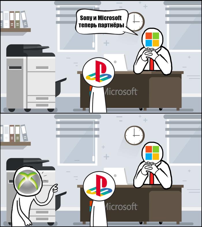 Игроновости в комиксах #1 Microsoft, Sony, Sony playstation, Xbox, Компьютерные игры