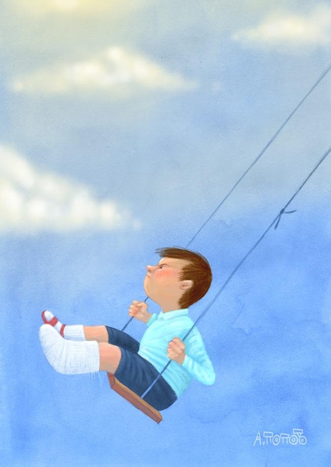 Всё равно буду лётчиком! Картина, Художник Андрей Попов, Длиннопост, Карикатура