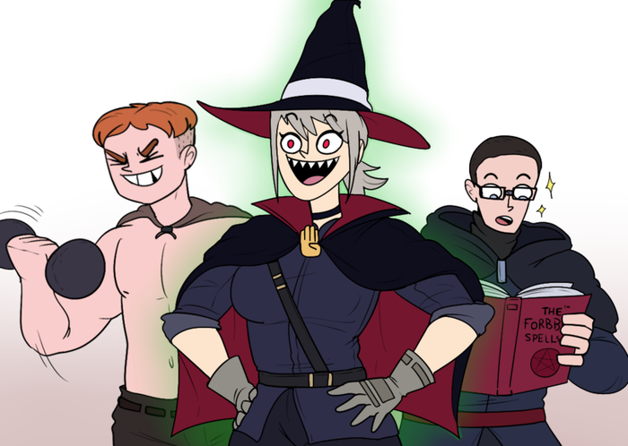 Некромант - лучший класс в фэнтези. Фэнтези, Некромант, Арт, Длиннопост, Комиксы, RPG