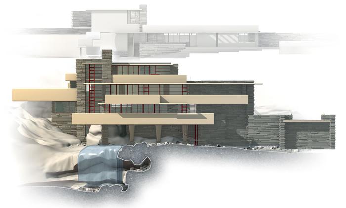 """""""Дом над водопадом"""" от Фрэнка Ллойда Райта (Стиль """"Райта"""") Дом над водопадом, Френк Райт, Стиль Райта, Архитектура, Дизайн, Длиннопост"""