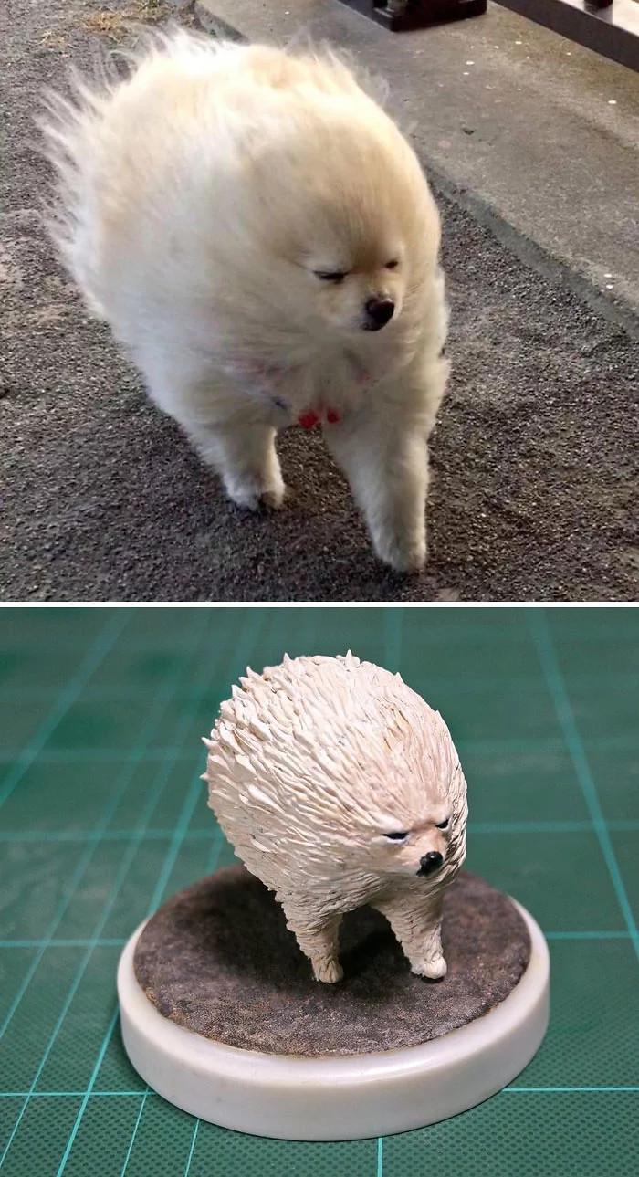 Японский художник превращает изображения животных в скульптуры Скульптура, Красота, Художник, Питомец, Длиннопост