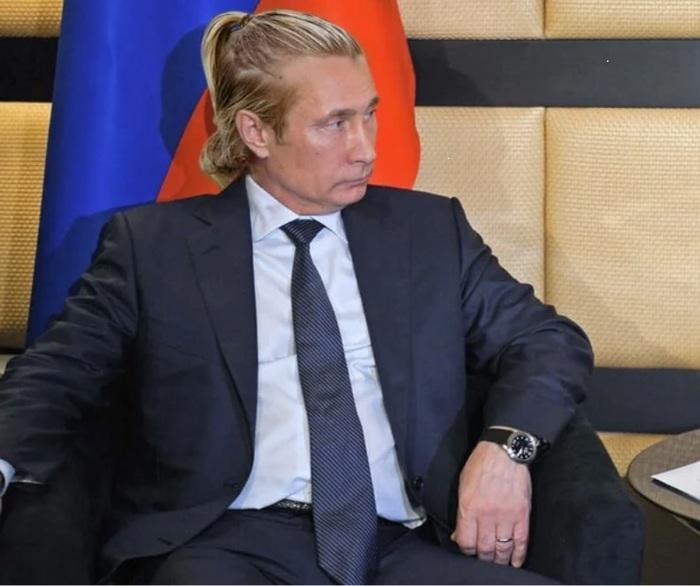 Путин перед встречей Путин, Photoshop, Прическа, Юмор