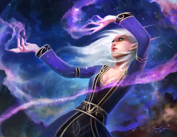 Вкратце о высших эльфах Азерота Длиннопост, Расоведение Баюна, World of Warcraft, Кельдорай, Эльфы