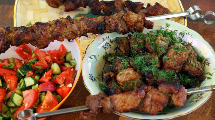 Шашлык, маринованный за 40 минут С дедом за обедом, Шашлык, Еда, Рецепт, Мясо, Вкусно, Видео, Длиннопост