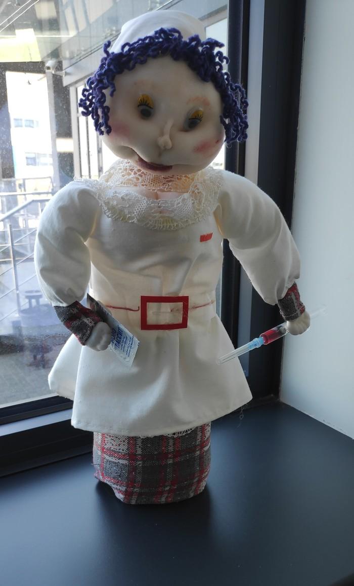 Кукла чтобы детки врачей не боялись. Врачи, Кукла, Все для детей, Длиннопост, Крипота