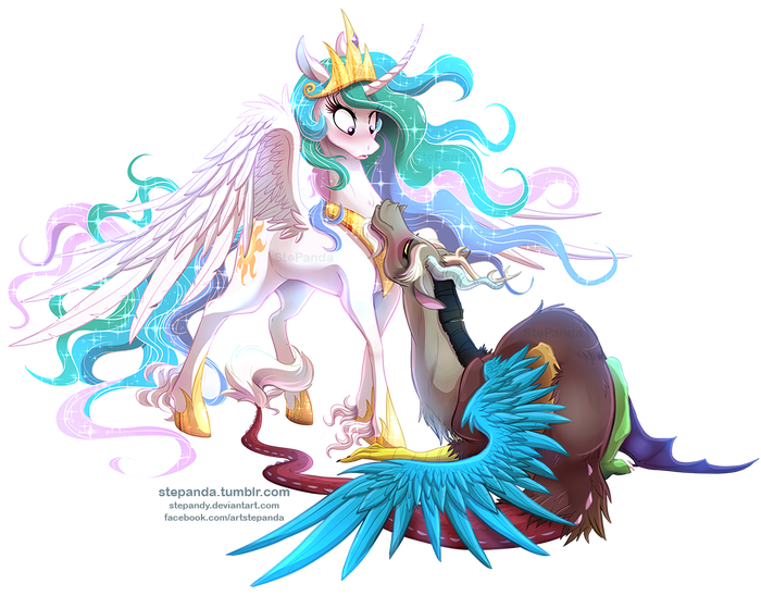 To Your Knees My Little Pony, Princess Celestia, MLP Discord, Шиппинг, Stepandy, Stepanda