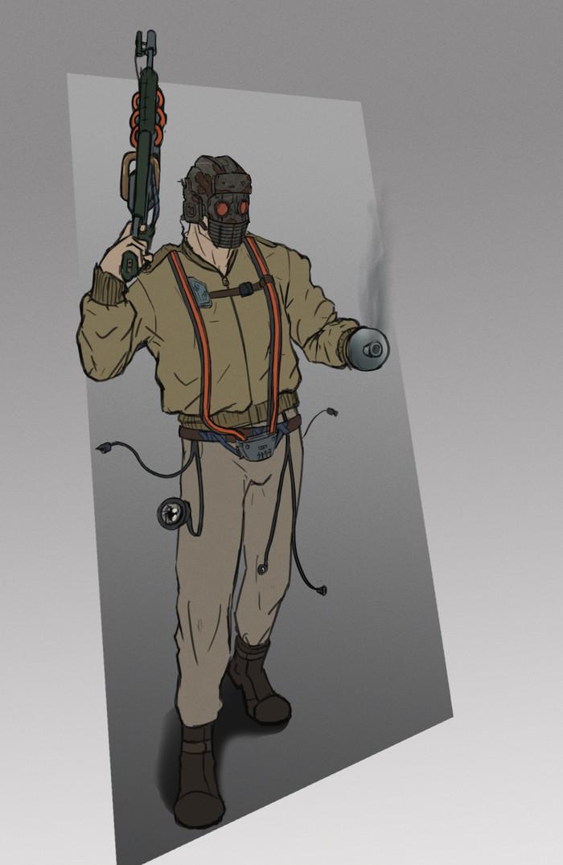 Рейдер Рисунок, Цифровой рисунок, Вымышленные персонажи, Рейдер, Photoshop, Постапокалипсис, Рисунок на планшете, Человек