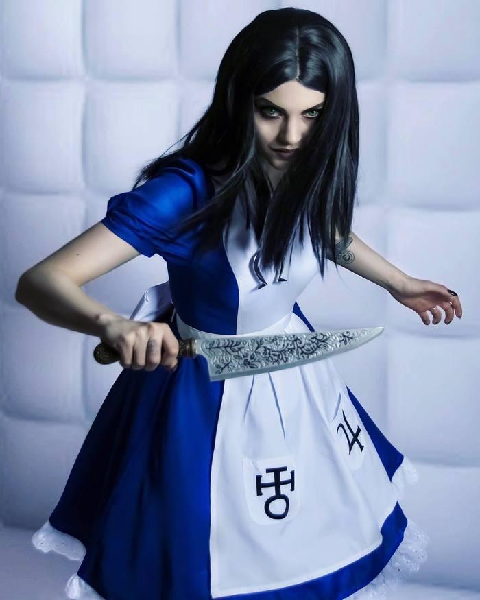 Алиса Лиддел. Косплей, Платье, Красивая девушка, Алиса, Длиннопост, American McGees Alice, Alice: Madness Returns