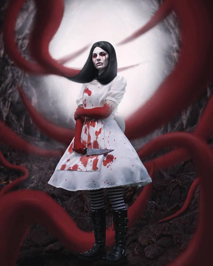 Алиса - Безумие возвращается. Алиса, Косплей, Нож, Платье, Длиннопост, American McGees Alice, Alice: Madness Returns